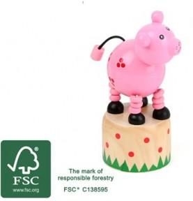 Jouet articulé cochon