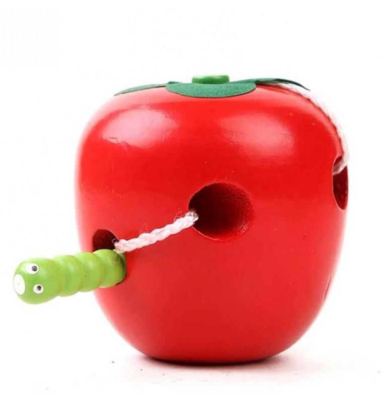 Vers qui mange une pomme Montessori