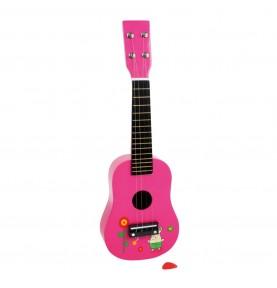 Guitare enfant rose