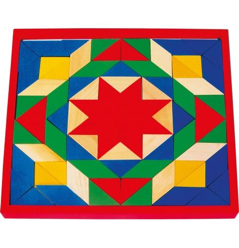 Grand tangram en bois - Jouet Montessori