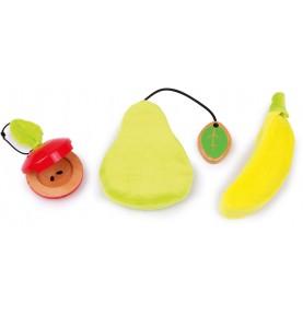 Set Musical fruits - Castagnettes, sifflet, Crécelle