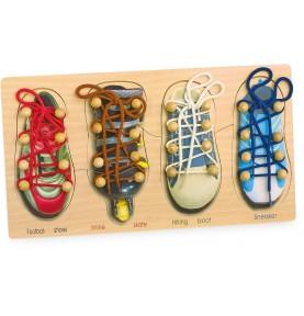 Chaussures à lacer - Matériel Montessori