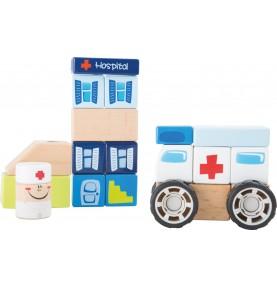 Materiel Montessori : jeu construction bois