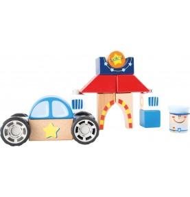Materiel Montessori : jeux construction bois