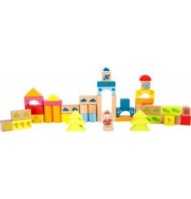 Materiel Montessori : jeu de construction bois