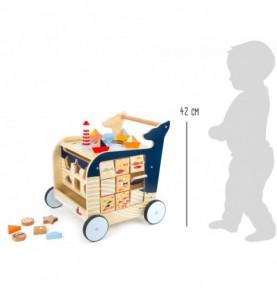 chariot bébé : chariot de marche en bois