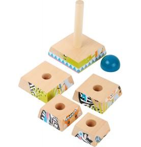 Tour à empiler en bois - Jeux et jouets Montessori