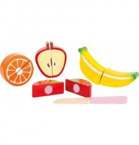 Fruits en bois à découper - Montessori