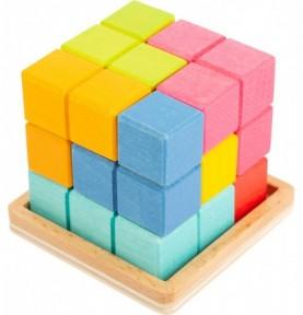 Casse-tête 3D en bois : Jouet Montessori