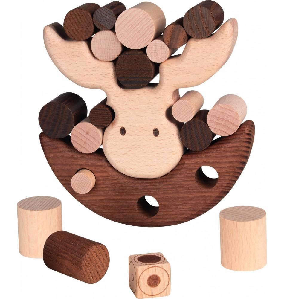 Jouet montessori : Jeu d'équilibre - Élan en bois