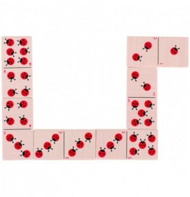 Jouet montessori : Jeu de domino coccinelle