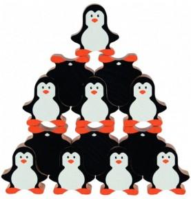 Jouet montessori : Pingouin construction - Bois 18 pièces