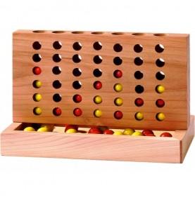Jouet montessori : Puissance 4 en bois