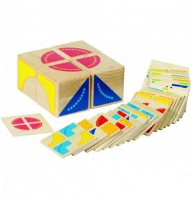 Jouet montessori : Puzzle 4 cubes à reconstruire