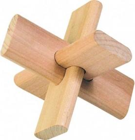 Jouet montessori : Sac rouge de casse tête - Croix
