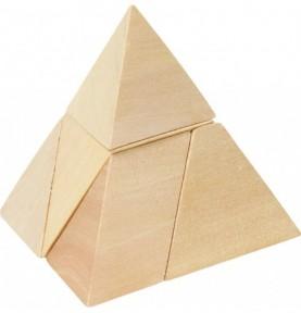 Jouet montessori : Sac rouge de casse tête - Pyramide