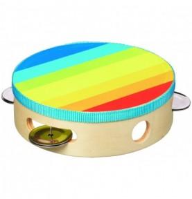 Jouet montessori : Tambourin multicolore - Petit - Couleurs