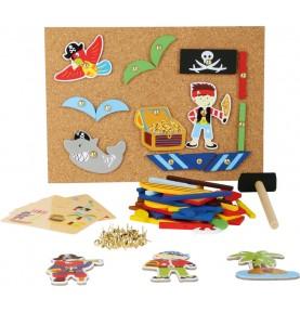 jeu de clou et marteau - pirates