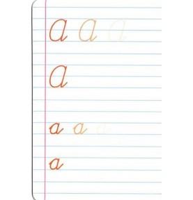 apprendre à écrire en cursive