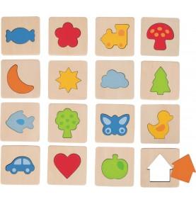 Jouet montessori : Jeu de mémori formes individuelles
