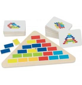 Jouet montessori : Puzzle triangle segmenté