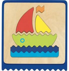 Jouet montessori : Puzzle bébé bâteau