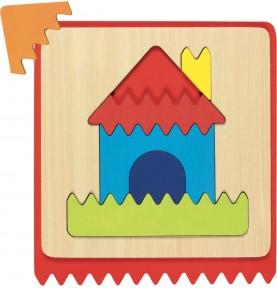 Jouet montessori : Puzzle bébé maison