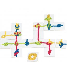 Jouet montessori : Jeu de sac de nœuds