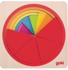 Jouet montessori : Puzzle quartiers de couleurs
