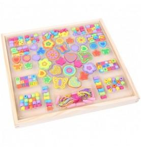 Perles en bois - Grand coffret Montessori