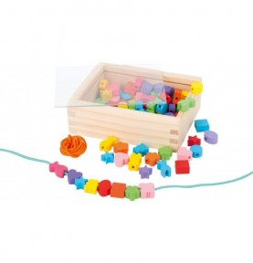 Perle en bois - Petit coffret Montessori