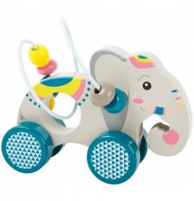 Éléphant avec circuit de motricité Montessori