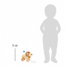 Lion à tirer avec circuit de motricité Montessori