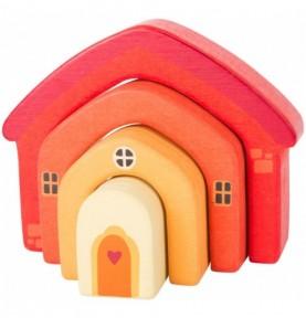 Maison orange à empiler Montessori