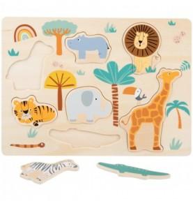 Puzzle à encastrer - Safari Montessori