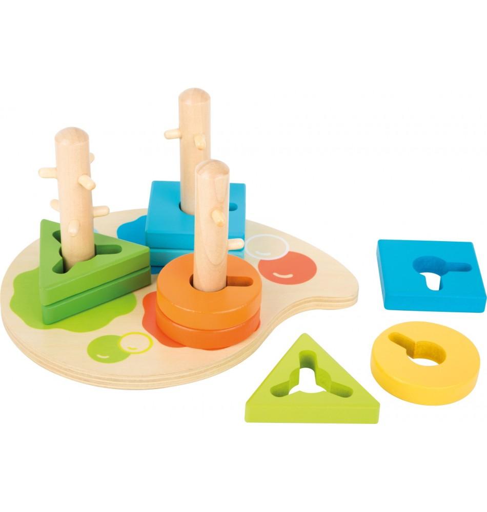 Socle 3 Tiges d'encastrement Montessori