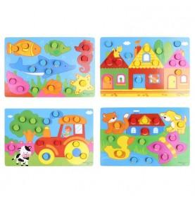 Puzzle apprentissage des couleurs - Apprendre les couleurs Montessori