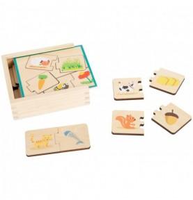 Coffret puzzle nourriture des animaux Montessori