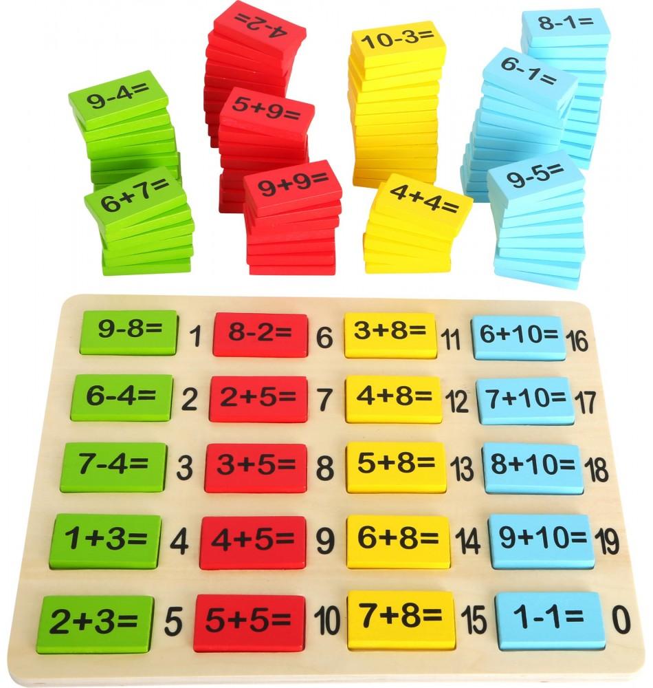 Jeu de plaquettes de calcul Montessori