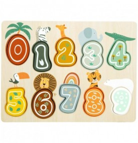 Puzzle chiffres anglais - Safari Montessori