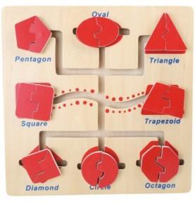 Labyrinthe des formes Montessori