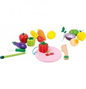 Fruits et légumes à découper Montessori