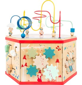 cube activité bois
