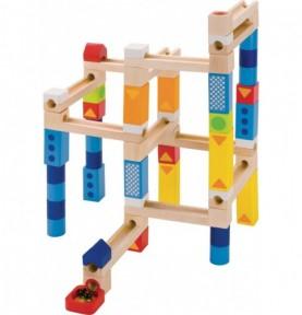 Grand circuit-toboggan à construire Montessori