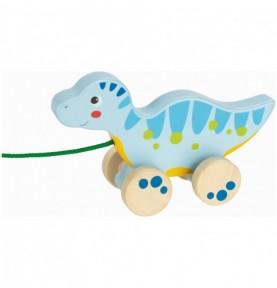 Dinosaure - Jouet à tirer Montessori