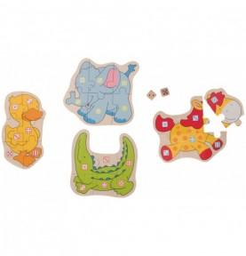 Jeu de dé - Puzzle animaux Montessori