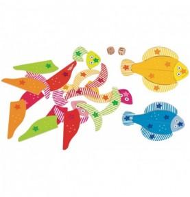 Jeu de dé - Puzzle poissons Montessori