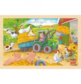Puzzle tracteur Montessori