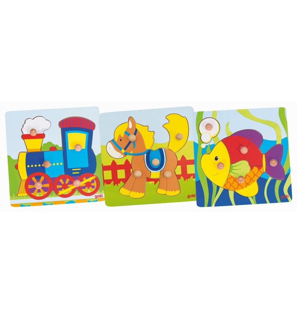 Puzzles à encastrements Montessori