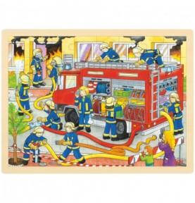 Puzzle Brigade de pompiers Montessori